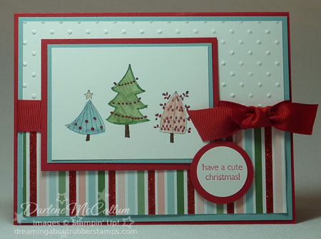 Stampin Up A Cute Christmas Card