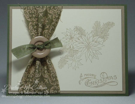 Stampin Up Canada Fabric Card