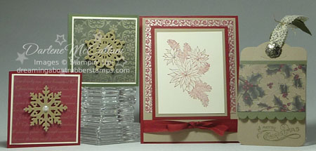 Stampin Up Canada Vintage Christmas Card Bundles Samples