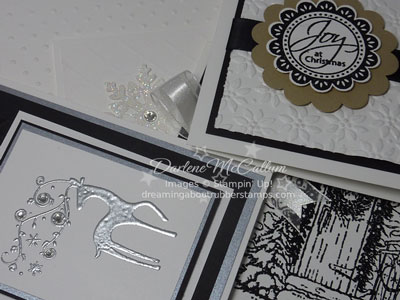 Black & White Christmas Cards by Stampin Up Canada