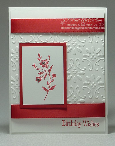 Stampin Up Canada Charming Birthday Card