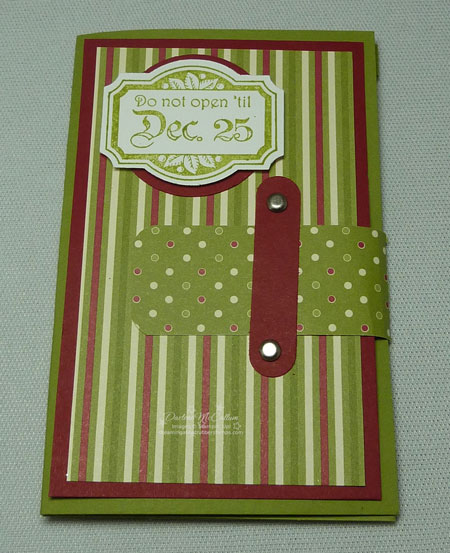 Stampin Up Canada Jolly Holiday Gift Card Holder