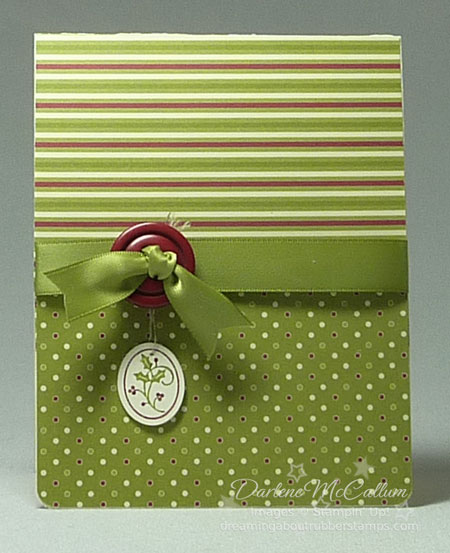 Stampin Up Canada Tags til Christmas Card