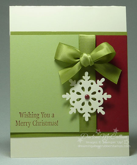 Stampin' Up! Canada Northern Frost Decorative Strip Card