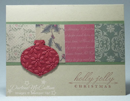 Stampin Up Canada Deck the Halls Canada