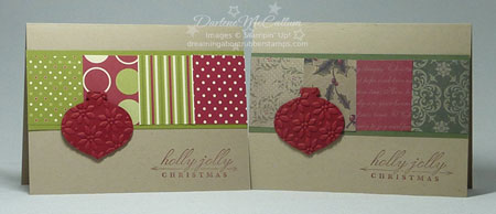 Stampin Up Canada Chrismtas Cards