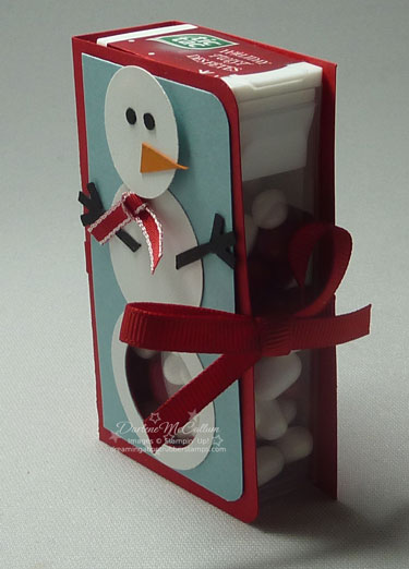 Snowman Kisses Inside - Stampin Up Canada