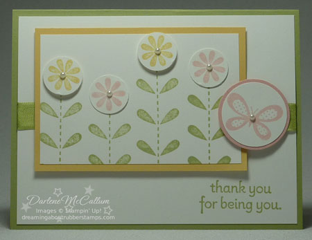 Stampin Up Card with the Bold Bossom Stamp Set