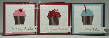 Stampin Up Canada Build A Cupcake Punch Cards