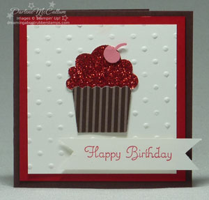 Build A Cupcake Card - Red