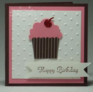Build A Cupcake Card - Pink