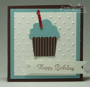 Build A Cupcake Card - Blue