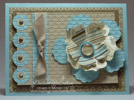 Fun Flowers Card with Elegant Soiree Paper
