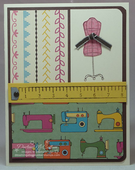 Sew Suite Card with Sweet Stiches Paper