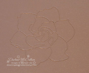 Heat Embossed image with white embossing powder