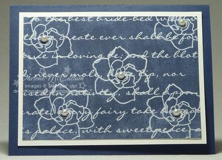 Presto Patterns Embossed in White
