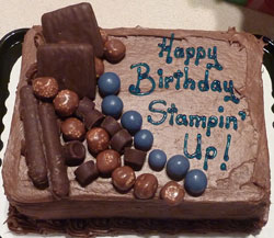 Happy Birthday Stampin Up Cake