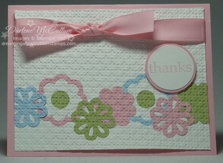 Blossom Bouquet Tripley Layer Punch Inlaid embossing card