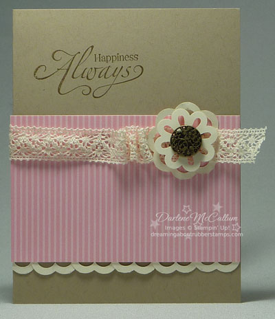 Blossom Bouquet Triple Layer Punch Card