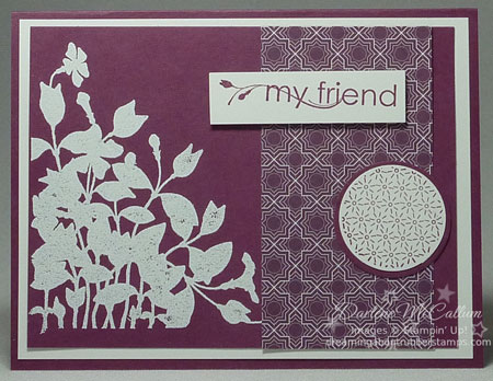 My Friend Stamp Set and the Pocketful of Posies Paper