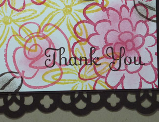 Flower Fest Card Closeup