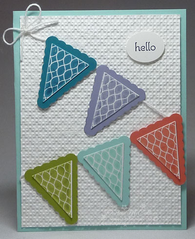 In Colors Pennant Card