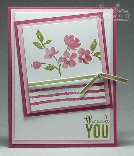 Painted Petals Card in Rose Red