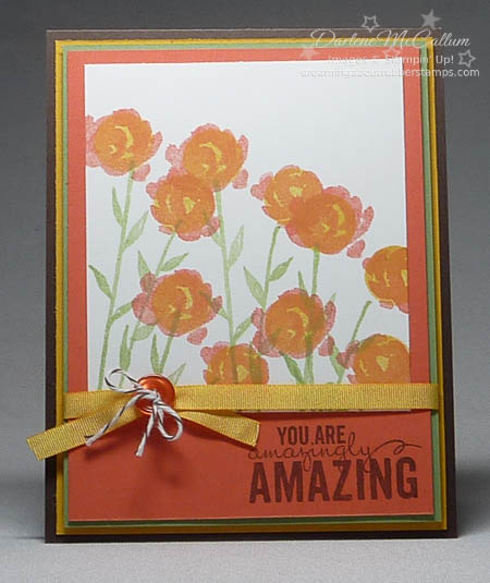 Painted Petals Card with Two Tone Flowers