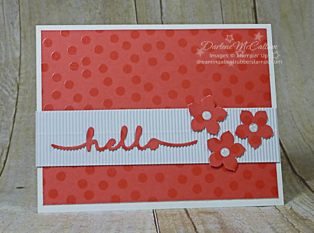 Petite Petals, Greetings Thinlits and Color Me Irresistible Paper