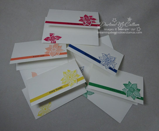 Pop of Petals Narrow Card by Stampin Up
