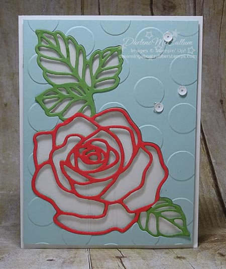Rose Garden Thinlits Card