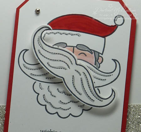 Santa Stache Spinner Card Closeup