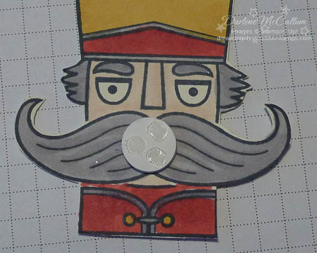 Santa Stache Spinner Card Step 4
