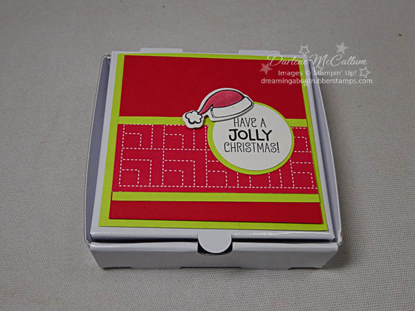 Mini Pizza Box with Santa's Suit