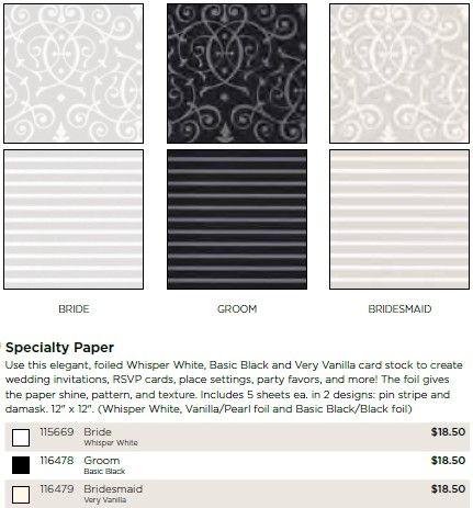 Stampin'Up! Groom Specialty Paper