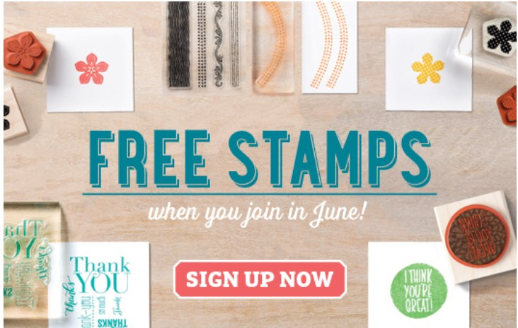 Join Stampin' Up! and get two free stamp sets