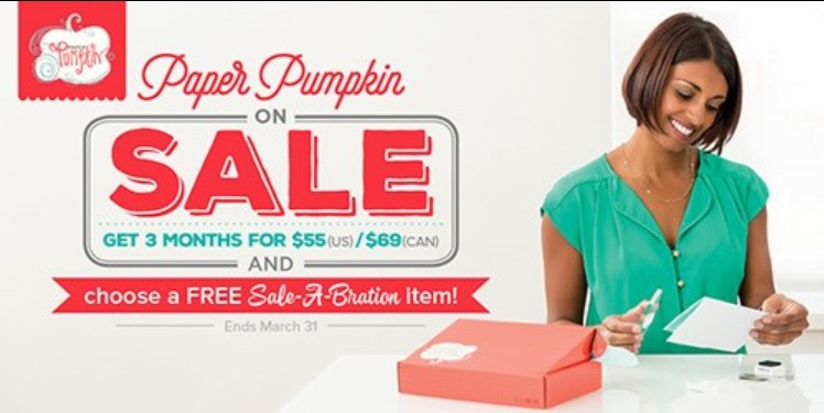 Stampin Up Paper Pumpkin on Sale