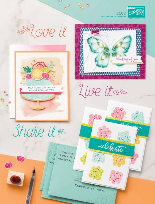 Stampin Up Occasions 2018 Catalogue