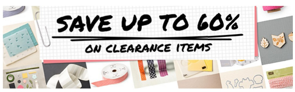 Stampin Up Canada Clearance Rack