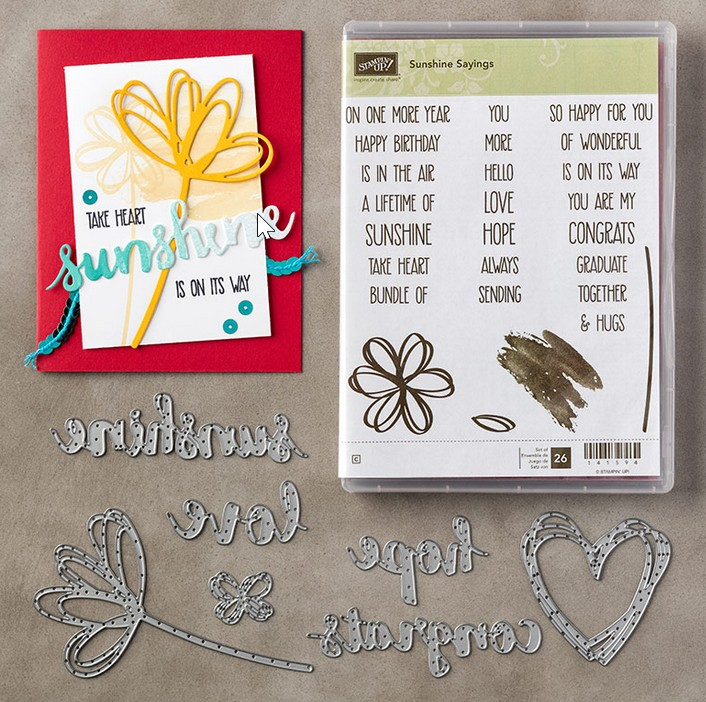 Stampin Up Sunshine Sayings Bundle