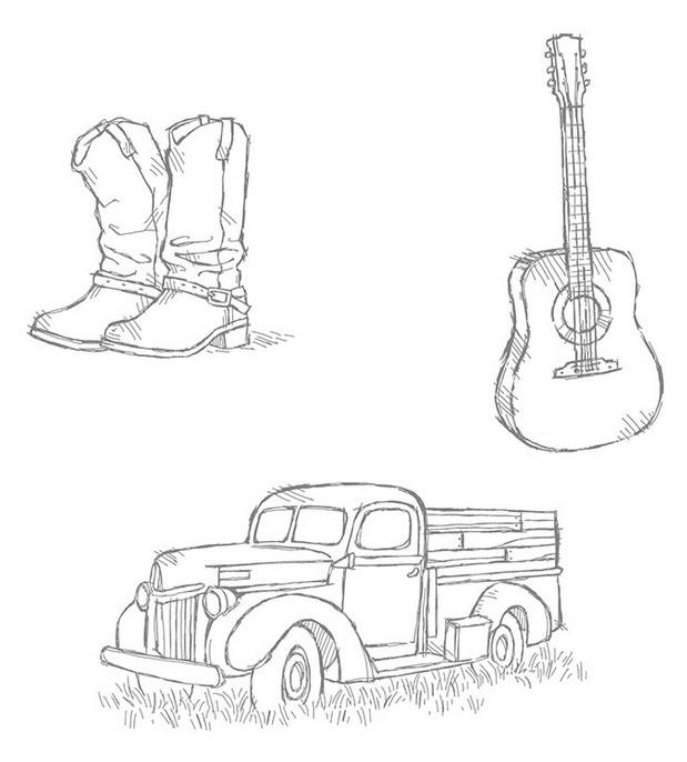 Stampin' Up! Country Livin' Stamp Set
