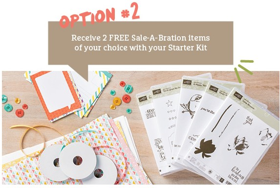 Stampin Up starter kit for sale-a-bration