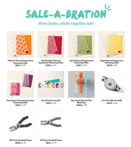 New Sale-a-bration Items March 2015