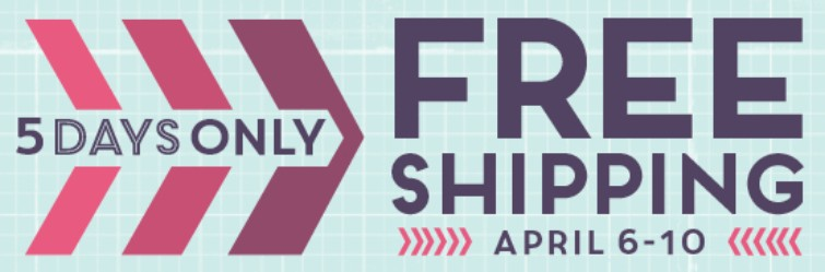 Stampin Up Canada Free Shipping April 6 to 10