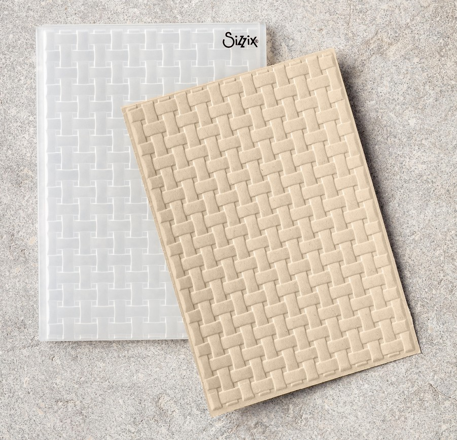 Basket Weave Textured Impressions Embossing Folder