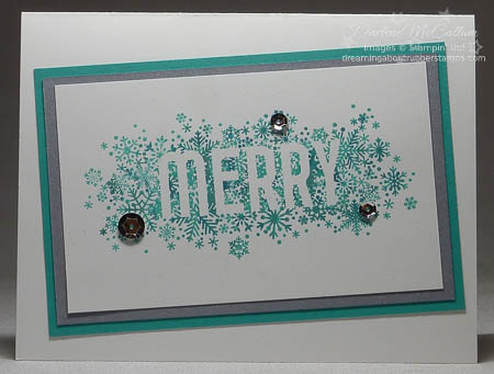 Seasonally Scattered Card with Thumping