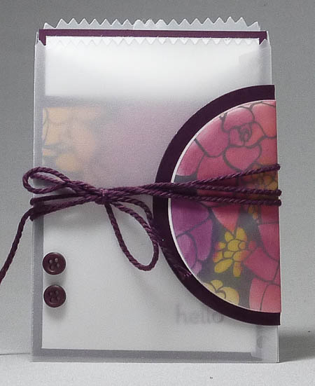 Sheer Perfection Mini Treat Bag and Card Set in Blackberry Bliss