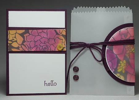 Sheer Perfection Mini Treat Bag and Card in Blackberry Bliss