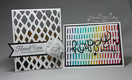 Stampin Up Happy Patterns Decorative Masks Cards