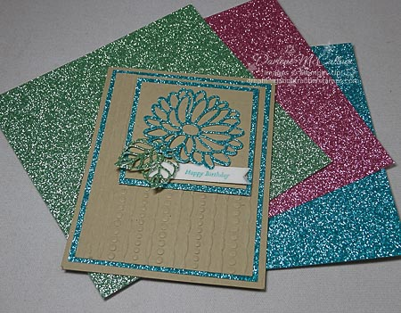 Stampin Up Stylish Stems Glimmer Card